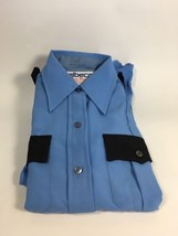 NEW Elbeco Perma Press Officer Guard Uniform Shirt Size 32 Blue Long Sleeve - $14.99