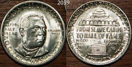 1946 USA Half Dollar Silver 50 Cents Booker T Washington Choce UnCirculated - $28.81