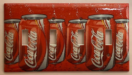 Coke Coca-Cola 12oz Can Toggle Rocker Light Switch Outlet wall Cover Plate decor image 3