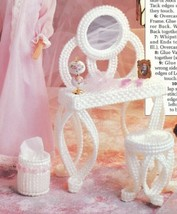 Vanity Set for Barbie Doll Annie's Plastic Canvas PATTERN/INSTRUCTIONS/NEW - $1.77
