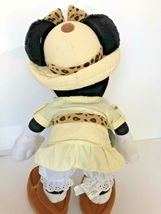 """Disney plush Safari Minnie Mouse stands about 14"""" tall with compass leopard bow  image 7"""