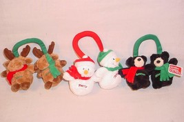 LOT OF GUND PLUSH HOLIDAY HANGERS CHRISTMAS TREE ORNAMENT HOLIDAY DECOR - $25.73