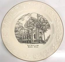 Kankakee Illinois First Church of God Homer Laughlin Plate 1956 - $23.36