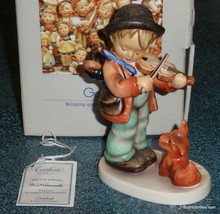 """Puppy Love"" Goebel Hummel Figurine #1 TMK6 With Box - Little Boy With Dog! - $363.74"