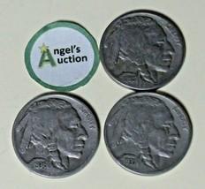 Buffalo Nickel 1935 P, 1936 P and 1937 P Buffalo Nickel AA20BN-CN2185