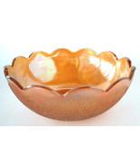 Tree Bark Carnival Glass Bowl Marigold Master Berry Bowl Iridescent Glas... - $18.00