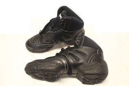 Bloch SO500L Adult's 7.5 (fits 6.5) Black Leather Mid Top Split Sole Sneakers image 3