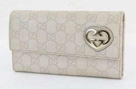f71556f803ad Authentic GUCCI Gray GG Leather Long Wallet Coin Purse #31930 - $175.00