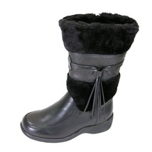 PEERAGE Bianca Women's Wide Width Fleece Collared Leather Dress Boot - $116.95