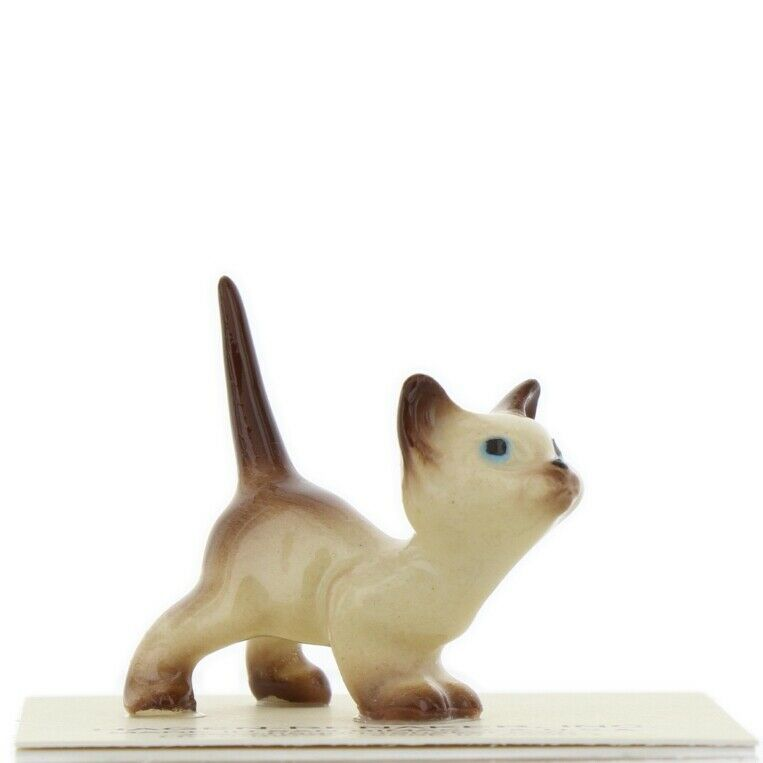 Hagen Renaker Miniature Cat Siamese Curious Kitty Ceramic Figurine