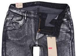 NEW NWT LEVI'S 535 JUNIOR'S PREMIUM CLASSIC SKINNY JEAN LEGGINGS BLACK 190050033 image 3