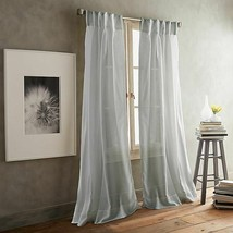 DKNY Paradox 2-Pack 84-Inch Inverted Pleat Sheer Window Curtain Panels Silver - $49.49