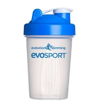 EvoSport 600ml Protein Shaker Blue/Clear - $16.89