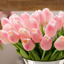 10pcs/bunch Pu Real Touch Elegant Tulip Artificial Flower Bouquets Home ... - $22.35