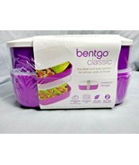 Bentgo Classic All In One Stackable Lunch Box Purple Sealed - $8.01