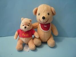 Vintage Disney Winnie the Pooh Bear with red bib Bonus+ baby winnie the ... - $19.80
