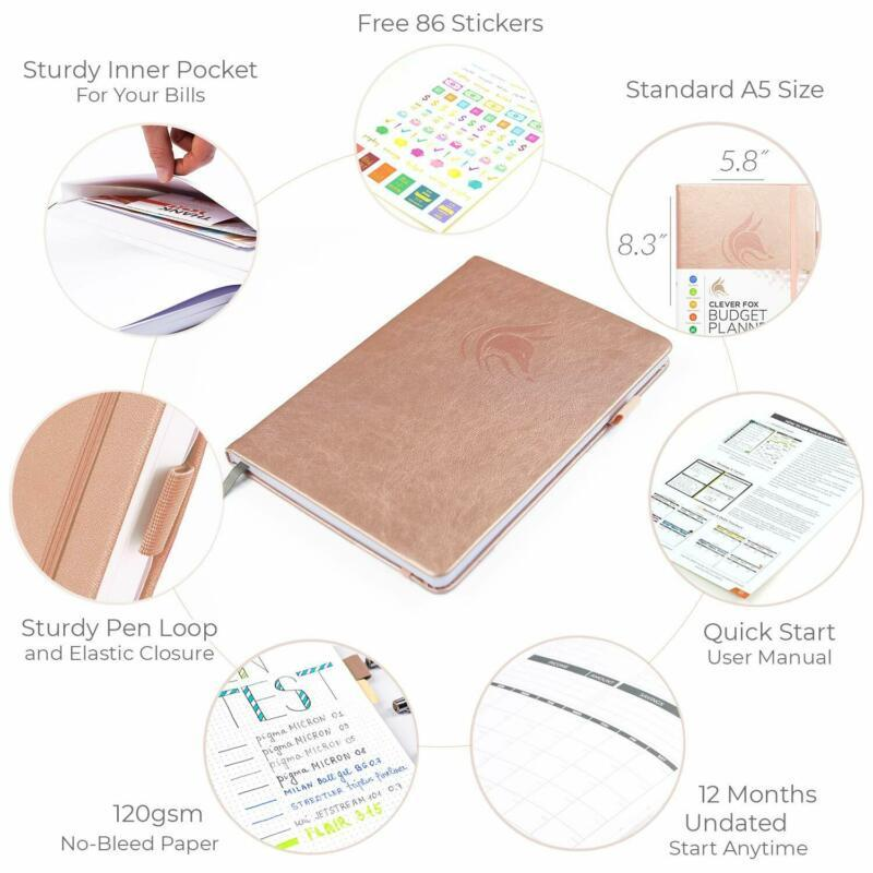 Clever Fox Budget Planner - Expense Tracker Notebook. Monthly Budgeting Journal, image 6