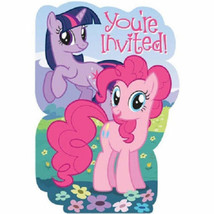 My Little Pony Friendship Party Invites 8 Invitations & Envelopes - $5.99