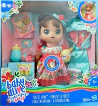 ONCE UPON A BABY ALIVE FOREST LUNA HISPANIC DOLL. 15 sounds,drinks & wet... - $54.45