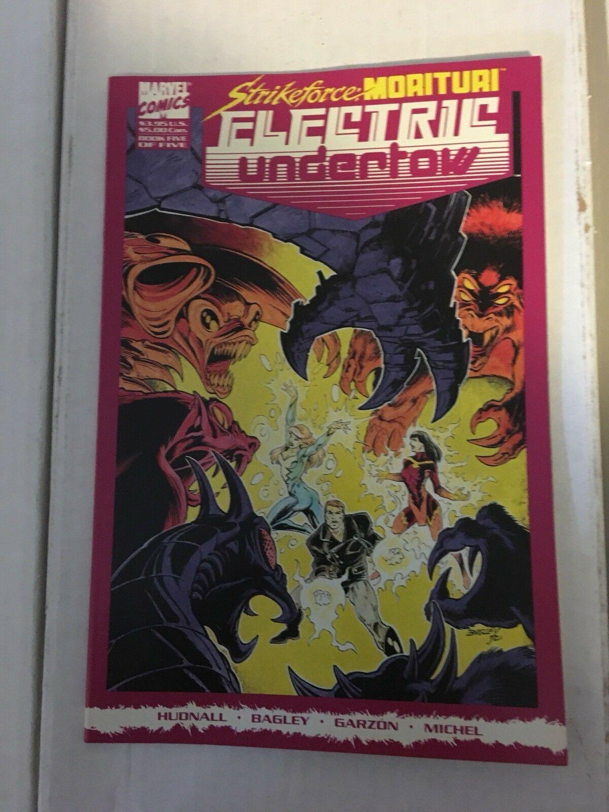 Strikeforce Morituri Electric Underflow #1 - 5 Marvel Comic Book Set 1989-90 NM