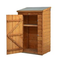 Storage Shed Wooden Small Spacious Adjustable Shelf Lockable Unit Garden... - $242.74