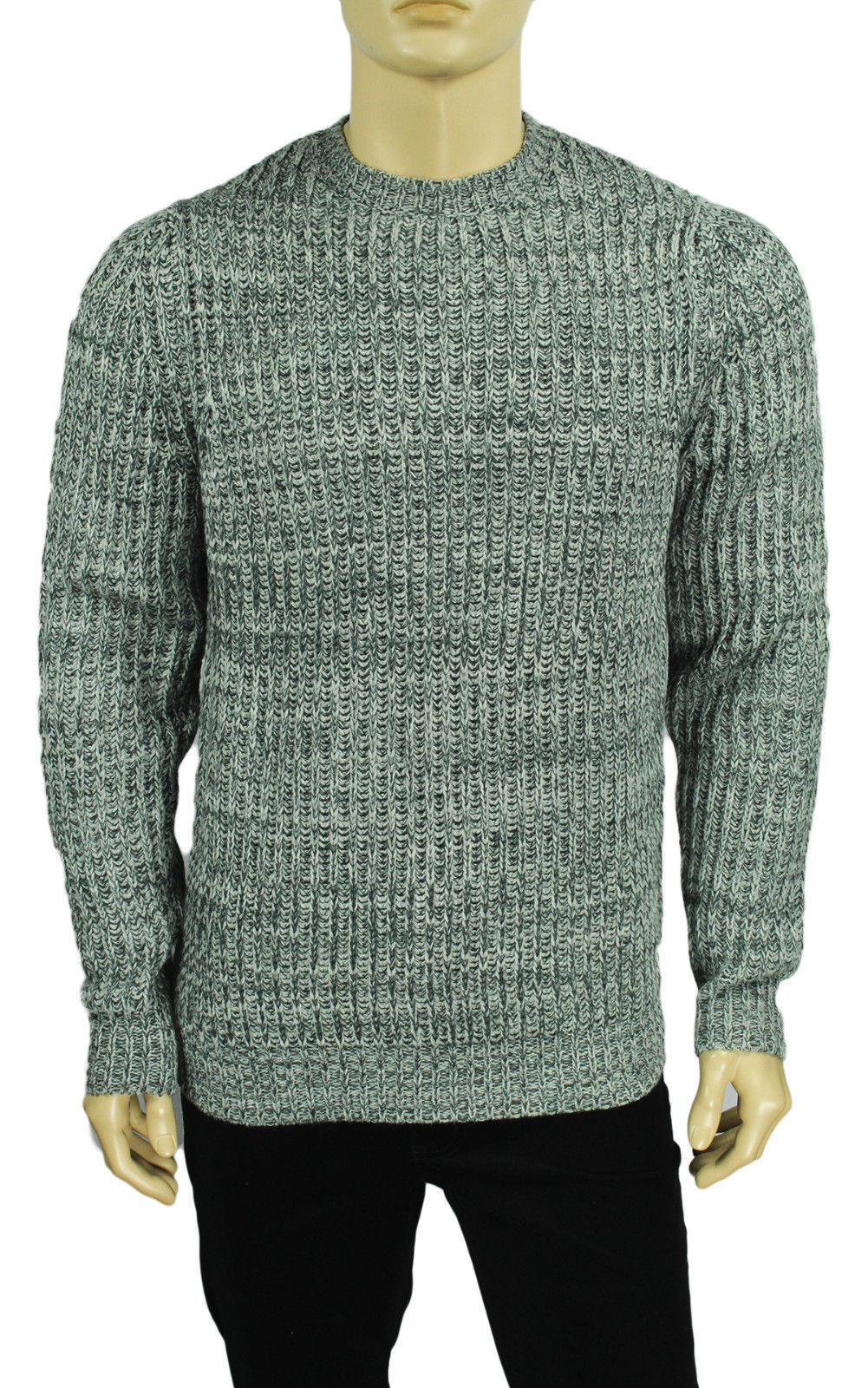 Primary image for NEW CLUB ROOM CREW NECK GREY ACRYLIC BLEND PULLOVER SWEATER $85