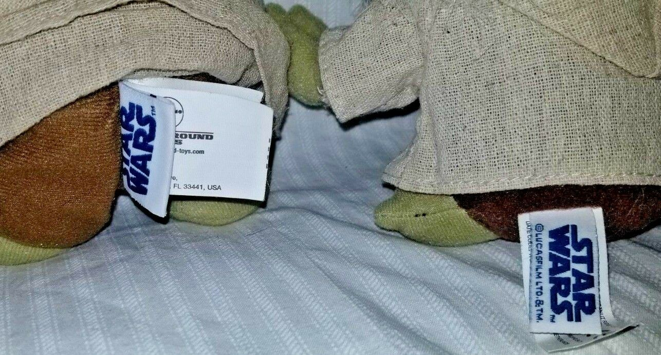 Star Wars Yoda Plush Dolls. Lot of 3 image 3