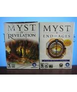 MYST IV Revelation + V End of Ages Lot 2 PC Games - Open Box - $20.70