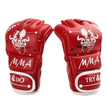 PANDA SUPERSTORE Adult Fingerless Boxing MMA Mitts Training Gloves for Muay Thai