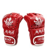 PANDA SUPERSTORE Adult Fingerless Boxing MMA Mitts Training Gloves for M... - $33.09
