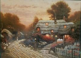 "Ceaco Thomas Kinkade ""Olde Porterfield Tea Room"" 1000 Pc Jigsaw Puzzle 1... - $12.86"