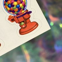 VTG Lisa Frank Complete Sticker Sheet GUMBALL MACHINE! Rare HTF S157 QuickSHIP image 3