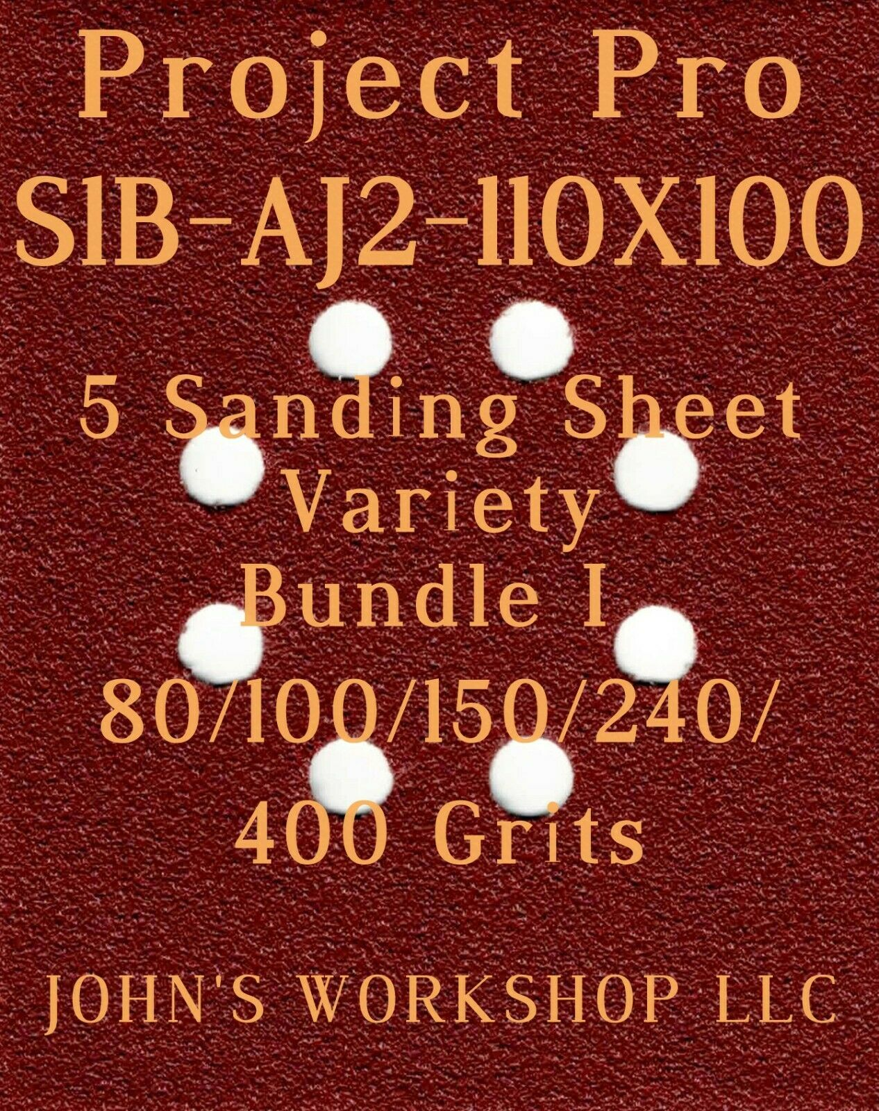 Primary image for Project Pro S1B-AJ2-110X10 - 80/100/150/240/400 Grit - 5 Sheet Variety Bundle I