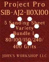 Project Pro S1B-AJ2-110X10 - 80/100/150/240/400 Grit - 5 Sheet Variety B... - $7.92