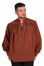 Deluxe Period Shirt - Brown - Pirate/Steampunk   - $38.50