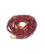 """Natural Mozambique Garnet 3-4mm Rondelle Faceted Beads 24"""" Long Beaded N... - $21.74"""