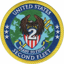 """4"""" UNITED STATES 2ND SECOND FLEET EMBROIDERED PATCH - $16.24"""