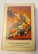 Vintage Retro Redislip Playing Cards Floral Centerpiece Van's Greenhouses  (003) image 5