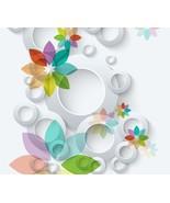 3D Circle Color Flower  Floor WallPaper Murals Wall Print Decal 5D AJ WA... - $65.44+
