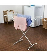 Folding Drying Rack Clothes Laundry Hanger Dryer Storage Indoor Steel Folds Room - $32.66