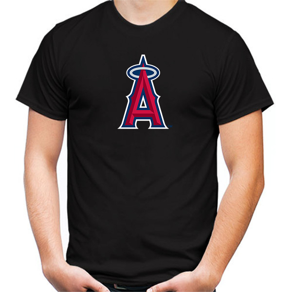 Primary image for Los Angeles Angels Tshirt Black Color Short Sleeve Size S-3XL
