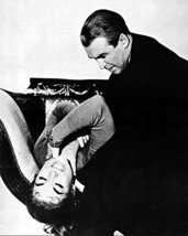 Kim Novak and James Stewart in Vertigo strangling Alfred Hitchcock class... - $69.99