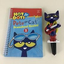 Hot Dots Jr Pete The Cat Preschool Rocks Book Interactive Pen Educationa... - $17.77