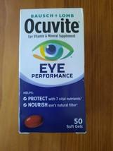 Ocuvite Bausch & Lomb Eye Performance Vitamin 50 Soft Gels Nib 02/2022 - $9.95