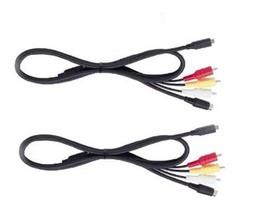 TWO 2X AV Cables for Sony DCR-DVD203 DCR-DVD205 DCR-DVD301 DCR-DVD304 DCR-DVD305 - $10.72