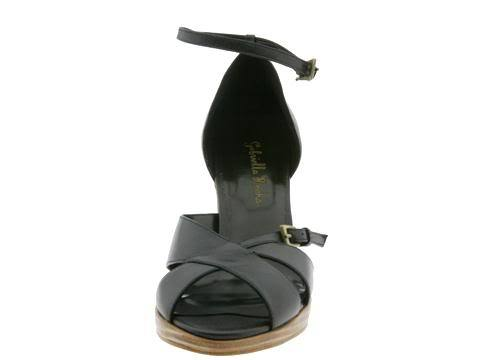 SZ 9 Gabriella Rocha Dula Womens Shoes Ankle Strappy Black Leather Dress Heels