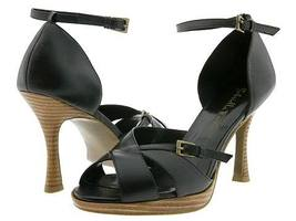 Gabriella Rocha Dula Womens 9 Shoes Ankle Strappy Black Leather Dress He... - $33.00