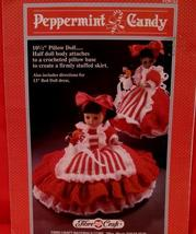 Vintage PEPPERMINT CANDY DOLL Crochet Patterns 13 Inch BED DOLL and PILL... - $6.95