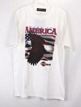 Neu Harley Davidson Ford Herren L Made in America Patriotische T-Shirt Weiß - $37.93