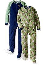 Gerber Little Boys' 2 Pack Blanket Sleepers, Monkey, 4T - $10.99